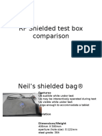 RF Shielded Test Box Comparison