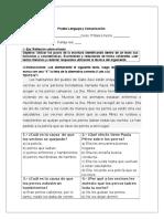 Prueba Lenguaje y Comunicación 5° parcial