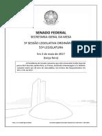 Ordem Do Dia - Senado - 02.05.2017