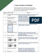 Naskah Copy Calculator Ke Notepad