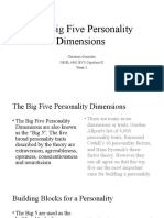 big five personality dimensions