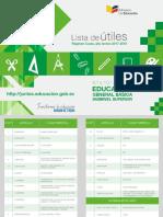 Lista de Utiles 2017 2018 Forosecuador