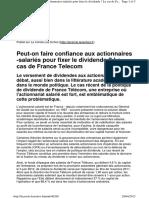 Dividende Francetelecom Lesechos Avril2012