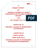 project report on  acc by vishal kumar