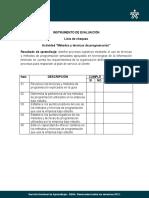 Instrumento de Evaluacion Actividad Metodos Programacion
