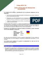 Nfpa 704 Identificacion y Rotulado de Productos Peligrosos
