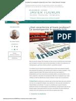 ¿Qué Caracteriza Al Buen Profesor_ La Investigación Lo Apunta (1_2) _ Javier Tourón - Talento, Educación, Tecnología