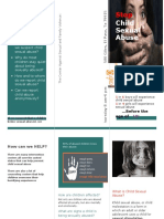 child sexual abuse brochure