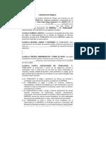 Modelo de Carta de Solicitud de Empleo