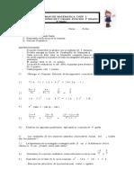 Trabajo de Matemática Coef 2 3º Medio Plan General.