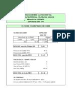 Dimensionamiento de Filtros Exp 2000 Tpd