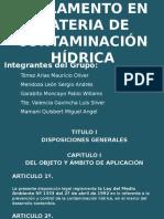 Reglamento en Materia de Contaminación Hídrica Oficial