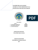 makalah manajemen belanja daerah