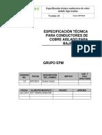 ET Cables de Cobre Aislado - Grupo EPM 10 Marzo 2015