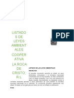 LISTADOS DE LAS LEYES AMBIENTALES VENEZUELA.docx