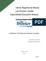 Conservatorio Regional de Música Monografia