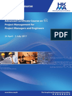 Advanced Certificate Course on Project Management for Project Managers and Engineers