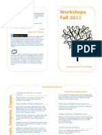 Workshops Brochure Fall 2011