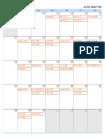 vhs geometry calendar  summer 2015
