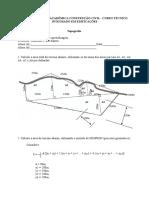 avaliação - áreas  - topografia - engenharia civil