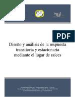 Diseño y Análisis de La Respuesta Transitoria y Estacionaria Mediante El Lugar de Raíces