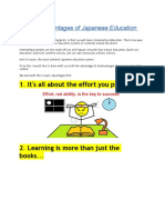 4 Major Advantages of Japanese Education System