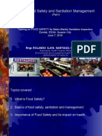 Basic Food Safety and Sanitation Management-NCR (Part1)