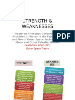 Strength & Weaknesses of Outer Space Treaty