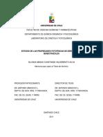Estudio de Las Propiedades Fotofísicas de Derivados de Benzotiazoles