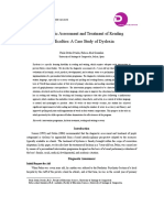 diagnostic assessment and treatment of reading difficulties- a case study of dyslexia