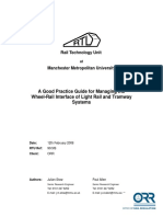 A Good Practice Guide for Managing the Wheel-Rail Interface of Light Rail and Tramway Systems