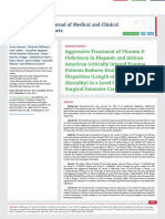 Aggressive Treatment of Vitamin D Defi ciency in Hispanic and African American Critically Injured Trauma Patients Reduces Health Care Disparities (Length of stay, Costs, and Mortality) in a Level I Trauma Center Surgical Intensive Care Unit