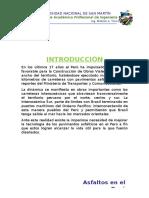 Asfaltos en El Perú