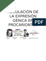 Regulación de La Expresión Génica en Procariontes
