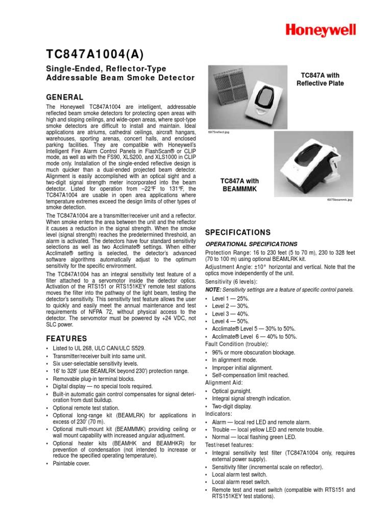 Addressable Beam Smoke Detector Switch Sensor