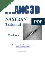 Franc3D V6 Nastran Tutorial