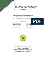 Analisis Perkembangan Sistem Moneter Internasional Dan Krisis Moneter Di Indonesia
