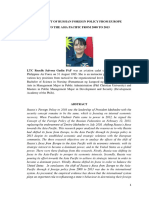 The Shift of Russian Foreign Policy From Europe to The Asia Pasific From 2008 to 2013