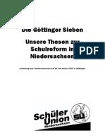 Unsere Thesen zur Schulreform in Niedersachsen