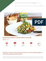 Salată de Zucchini Cu Fasole Alba Și Avocado _ Retete CA La Mama