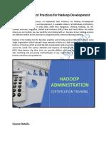 Best Practices for Hadoop Development