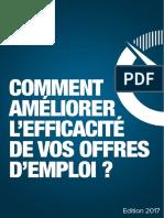 Guide Comment Ameliorer Lefficacite Des Vos Offres Demploi 2017