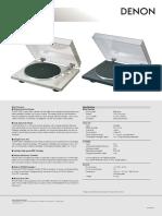 Denon DP-300F Brochure