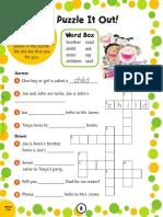 Print Word Activities 3