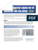 Saving Water Outdoors - Spanish