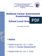 2016 NCAE Orientation School Level