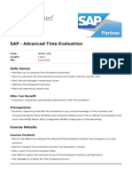SAP Advanced Time Evaluation