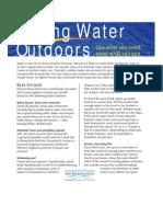 Saving Water Outdoors