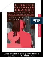 Beginning Qualitative Research a Philosophical and Practical Guide (1)