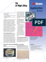 Struers Application Note - Metallographic Preparation of High Alloy Tool Steel